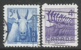 Canada. 1956 National Wildlife Week. Used Complete Set. SG 486-7 - 1952-.... Reign Of Elizabeth II