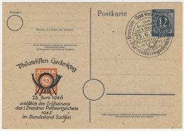 Gemeinschaftsausgaben Ganzsache P 954 gebraucht / Zudruck Philatelisten Gedenktag 1946