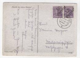 SBZ Handstempel Michel No. 167 III gestempelt used  Bezirk 16 Oberhof