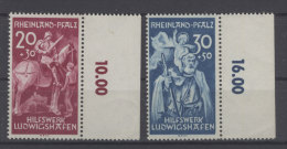 Rheinland Pfalz Michel No. 30 - 31 II ** postfrisch