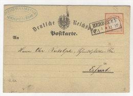 Deutsches Reich Michel No. 18 gestempelt used auf Karte