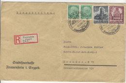Deutsches Reich Michel No. 515 , 752 , 759 gestempelt auf Brief
