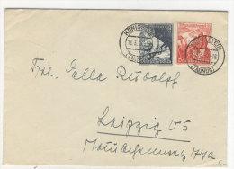 Deutsches Reich Michel No. 752 , 755 gestempelt auf Brief