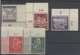 Lot Deutsches Reich Michel No. 857 , 862 , 893 , 894 - 895 ** postfrisch Eckrand
