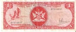 BILLETE DE TRINIDAD Y TOBAGO DE 1 DOLAR DEL AÑO 1964 (BANKNOTE) BIRD-PAJARO - Trinidad Y Tobago