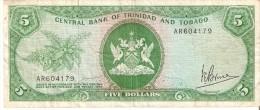 BILLETE DE TRINIDAD Y TOBAGO DE 5 DOLLAR DEL AÑO 1964 (BANKNOTE) - Trinidad Y Tobago