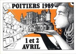 POITIERS 1989  -  VEYRI  -  TIRAGE LIMITE  -  SIGNE AU DOS - Veyri, Bernard