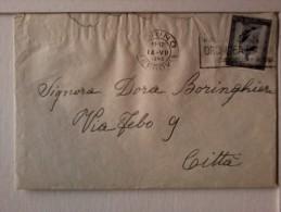 Storia Postale - Lettera Affrancata L. 20 Giuseppe Mazzini Datata 1949 - Italia