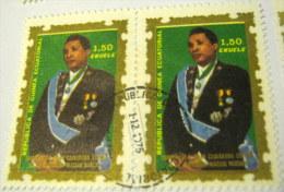 Equitorial Guinea 1975 President Macias 1.50e X2 - Used - Equatoriaal Guinea