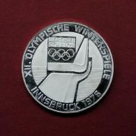 AUSTRIA - 100 SCHILLING - 1976 INNSBRUCK WINTER OLYMPICS - BERGISELSCHANZE - SILVER COIN - Austria