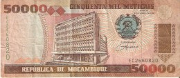 BILLETE DE MOZAMBIQUE DE 50000 METICAIS DEL AÑO 1993 (BANKNOTE) - Mozambique