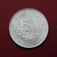 MEXICO - 5 PESOS - HIDALGO - 1957 SILVER COIN - Mexico