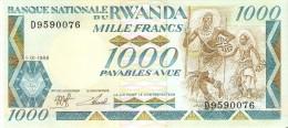 BILLETE DE RUANDA DE 1000 FRANCOS DEL AÑO 1988 (GORILA-GORILLA) (BANKNOTE) SIN CIRCULAR-UNCIRCULATED - Rwanda