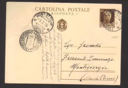 6220-Cartolina Postale Postal Stationery Filagrano C83 Usata Risposta Foro Di Spillo - 1900-44 Vittorio Emanuele III