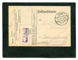 Deutsches Reich Feldpostkarte 1917 - Militaria