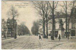 CV Postcard, Rouen, Boulevard Jeanne D'Arc Et Rue Verte, 270, Animee - Rouen