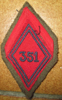 Losange M45 351° Rgt D'Artillerie - Patches