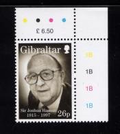 GIBRALTAR 1997 Hommage A Sir Joshua Hassan N° 822** CDF - Gibraltar