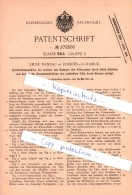 Original Patent - Emile Daneau In Rhisnes B. Namur , 1912 , Spitztütenmaschine , Maschinenbau !!! - Namur