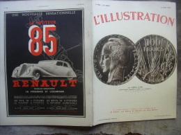 L'ILLUSTRATION 4806 MEMEL/ DANTZIG/ JAKOB/ GUADELOUPE/ GRECE/ NAVIGATEUR SOLITAIRE 13 AVRIL 1935 - Newspapers