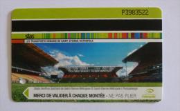 Ticket STAS  Saint Etienne (42/Loire) - 1H30 Bus Tramway - STADE GEOFFROY GUICHARD / Football - ASSE