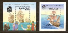 Bahamas 1992 Yvertn° Bloc 58 Et 62 *** MNH Cote 24 Euro Bateaux Boten Ships - Bahamas (1973-...)