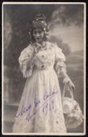 BRUXELLES THEATRE 1917 - * RARE !!! PHOTO DEDICASEE DE L´ARTISTE CHANTEUSE OPERETTE MEG DE COCK  * - Cafés, Hotels, Restaurants