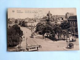 Carte Postale Ancienne : ANVERS : Panorama Place De La Victoire , Tramways En 1933, Timbre - Antwerpen
