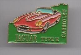 Pin's Voiture / Jaguar Cabriolet Type E - Jaguar