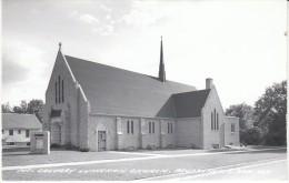 Brookings South Dakota, Mt. Calvary Lutheran Church Architecture, C1950s Vintage Real Photo Postcard - Brookings