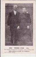 1864 - NOCES D'OR - 1914  - Les Epoux Dardenne-Leclercq, Unis Le 10 Mars 1864 (carte Vendue Aux Profit Des Jubilaires) - Noces