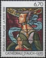 FRANCE Poste 3254 ** MNH Tableau : Vitrail De La Cathédrale D´Auch De Arnaud De MOLES - France