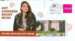 BRD Haibach Infopost Allemagne FRW 2014 Adler Frau Mode Pelz Laubblätter - Textil