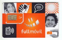 COSTA RICA CARTE GSM FULLMOVIL VERSO NUMEROTEE