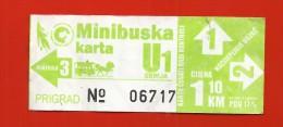 BOSNIA AND HERZEGOVINA -mini bus ticket-logo old tram-Sarajevo.