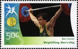 2006. AUSTRALIAN DECIMAL. COMMONWEALTH GAMES. Ben Turner 50c. Weightlifting Men´s 69kg MUH. - 2000-09 Elizabeth II