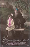 """PAREJA DE ENAMORADOS-PAIR OF LOVERS """"ICH HAB MEIN HERZ IN HEIDELBERG VERLOREN"""" Nº 7392/6 CIRCULEE 1929 GECKO. - Koppels"""