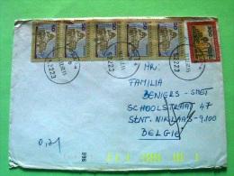 Croatia 1992 Cover To Belgium - Sibenik Cathedral (5x Scott 112 = 5.5 $) - Monastery Beli (Scott # 115 = 4 $) - Croacia