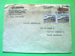 Croatia 1993 Cover To Praha Czech Rep. - Vinkovci Palace - Slavonski Brod Palace - Croacia