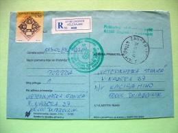 Croatia 1994 Registered Cover To Dubrovnik - Town Of Slavonski Brod 750 Anniv. (Scott RA51) - Croacia