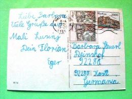 "Croatia 1994 Postcard ""Mali Losinj Harbor - Shipd"" To Germany - Pazin Castle - Karlovac Palace (Scott 119 = 2.25 $) - Croacia"