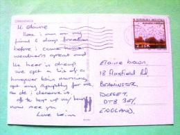 "Croatia 1994 Postcard ""Crikvenica"" To England - Kopacki Trscak Nature Reserve - Birds - Croacia"