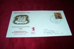 LETTRES  D´ALLEMAGNE ° FDC ° BERLIN 12 ° WEIHNACHTEN  ° ERSTAUSGABE  LE 09 11 1982 - [6] Democratic Republic