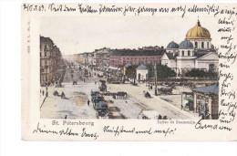 St Petersbourg Eglise De Znamenija 1903 OLD POSTCARD 2 Scans - Russia