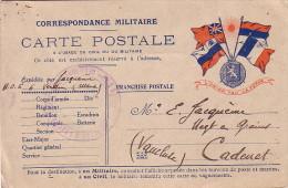 HOPITAL D'EVACUATION N°6 - L'OFFICIER D'ADon GESTIONNAIRE - LE 10-7-1915 - VERDUN MEUSE. - Marcophilie (Lettres)