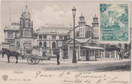 Carte Postale Ancienne,BELGIQUE,BELGIE, OSTENDE,OOSTENDE EN 1905,kursaal,vignette Exposition Universelle Liege,rare - Oostende