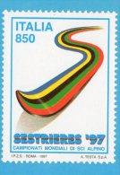 [DC0143] CARTOLINEA - MOLTO RARA - SESTRIERE - CAMPIONATI MONDIALI DI SCI ALPINO - Wintersport
