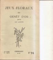 2 Ex. Jeux Floraux Du Genet D'or-conflent-concours De Poemes En Français Et Catalan-66 - Languedoc-Roussillon