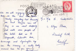 .P/HISTORY-1962 SLOGAN -WORLD HEALTH ORGANISATION FIGHTS MALARIA - Postmark Collection