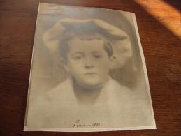 Photo Ancienne Portrait Garçon 1894 - Anciennes (Av. 1900)